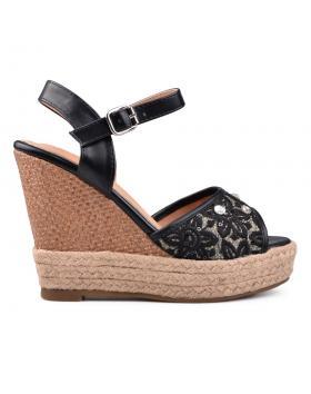 Дамски ежедневни сандали черни 0130577 в online магазин Fashionzona