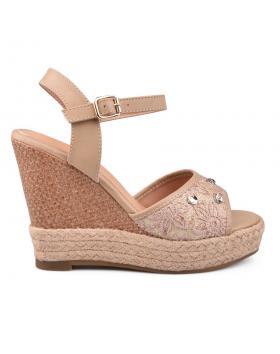 Дамски ежедневни сандали бежови 0130578 в online магазин Fashionzona