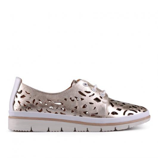 Златисти дамски ежедневни обувки Jeanie