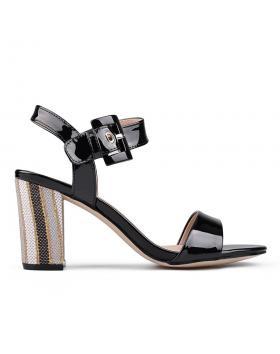 Дамски елегантни сандали черни 0130284 в online магазин Fashionzona