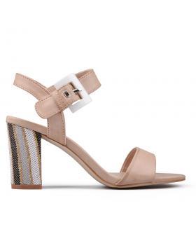 Дамски елегантни сандали бежови 0130285 в online магазин Fashionzona