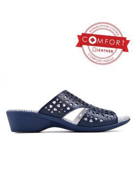 Тъмносини тъмносини дамски ежедневни чехли 0129504 в online магазин Fashionzona