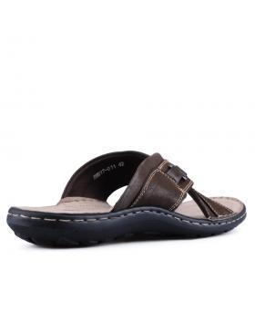Кафяви мъжки чехли Reynaldo в online магазин Fashionzona