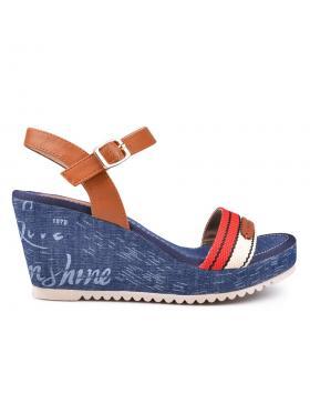 Дамски ежедневни сандали сини 0129915 в online магазин Fashionzona
