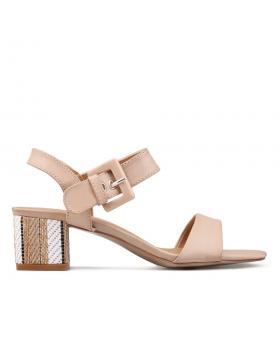 Дамски ежедневни сандали бежови 0130296 в online магазин Fashionzona