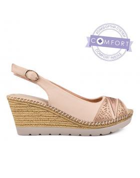 Дамски ежедневни сандали бежови 0130153 в online магазин Fashionzona