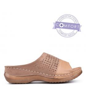 Дамски ежедневни чехли бежови 0130142 в online магазин Fashionzona