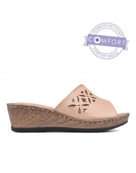 Дамски ежедневни чехли бежови 0130151 в online магазин Fashionzona