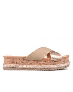 Дамски ежедневни чехли бежови 0132398 в online магазин Fashionzona