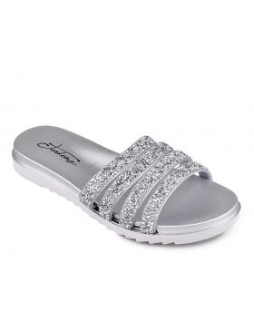 дамски ежедневни чехли сребристи 0130342 в online магазин Fashionzona