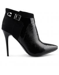 Черни дамски елегантни боти 0125443