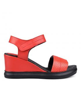Дамски ежедневни сандали червени 0131377 в online магазин Fashionzona
