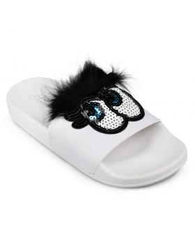 Бели дамски ежедневни чехли 0130335 в online магазин Fashionzona