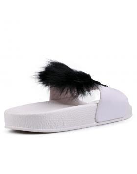 Бели дамски ежедневни чехли Hartlyn в online магазин Fashionzona