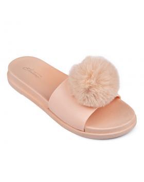 Бежови дамски ежедневни чехли Delphia в online магазин Fashionzona