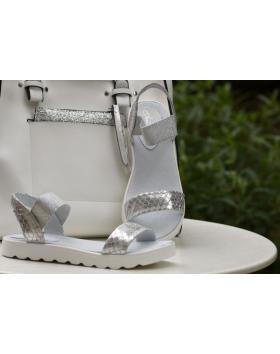 Дамски ежедневни сандали сребристи 0132529 в online магазин Fashionzona