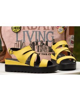 Дамски ежедневни сандали жълти 1098 в online магазин Fashionzona