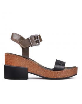 Дамски ежедневни сандали зелени 0131414 в online магазин Fashionzona