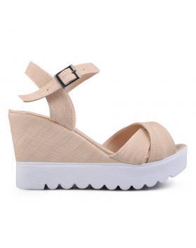 Дамски ежедневни сандали бежови 0132494 в online магазин Fashionzona