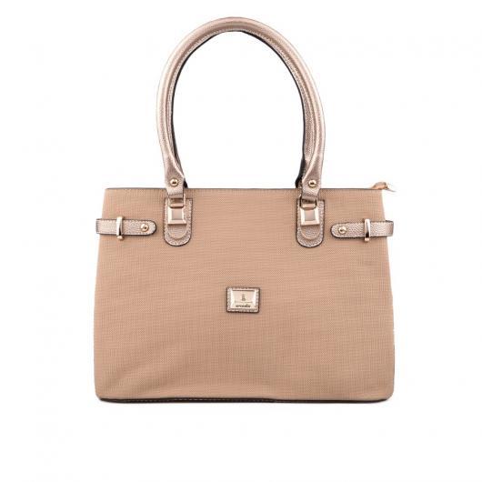 Бежова дамска ежедневна чанта Neneh