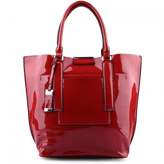 Червена дамска ежедневна чанта Jenina