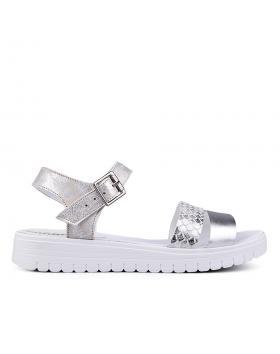 Дамски ежедневни сандали сребристи 0132574 в online магазин Fashionzona