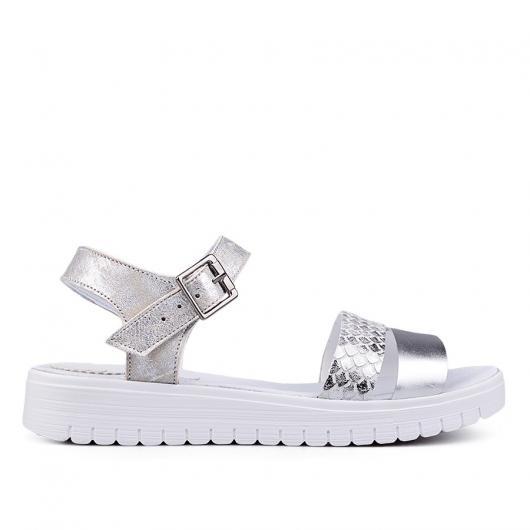Сребристи дамски ежедневни сандали Desideria