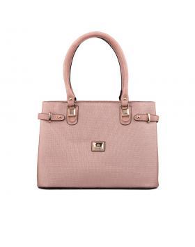 Розова дамска ежедневна чанта 0132654 в online магазин Fashionzona