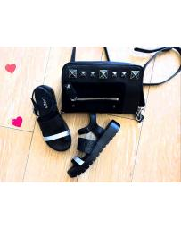 Черни дамски ежедневни сандали Taylar в online магазин Fashionzona