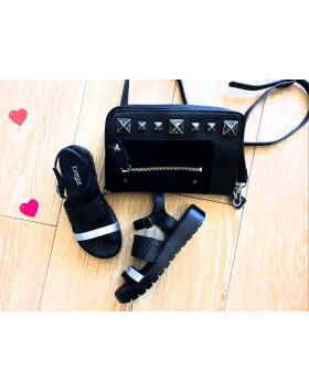 Дамски ежедневни черни сандали1095B в online магазин Fashionzona