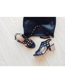 Дамски ежедневни черни сандали 2084B в online магазин Fashionzona