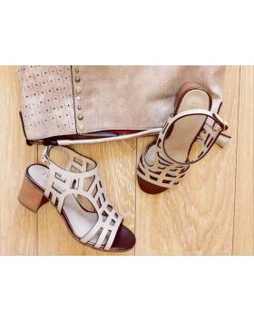 Дамски ежедневни бежови сандали 2084Т в online магазин Fashionzona