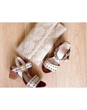 Дамски ежедневни бежови сандали 2083Т в online магазин Fashionzona