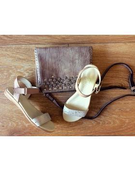 Дамски ежедневни сандали бежови 0131393 в online магазин Fashionzona