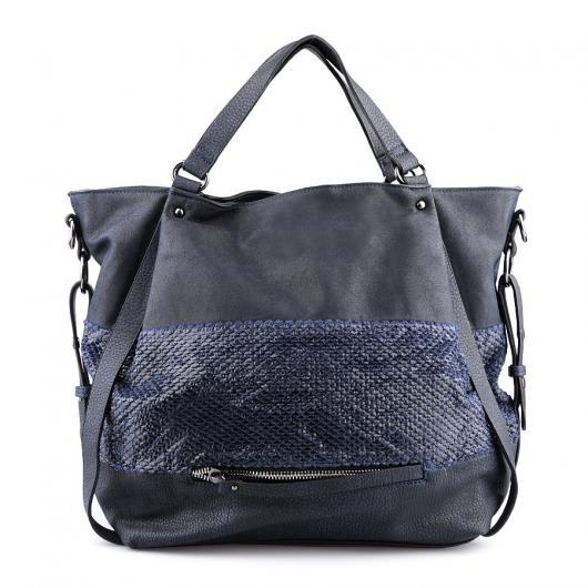 Синя дамска ежедневна чанта Pedra