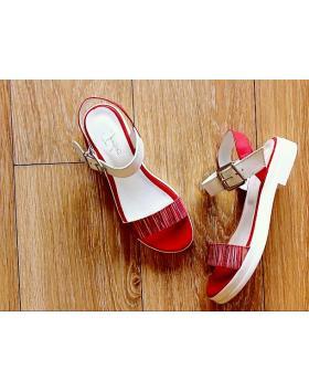 Дамски ежедневни сандали червени 0131384 в online магазин Fashionzona