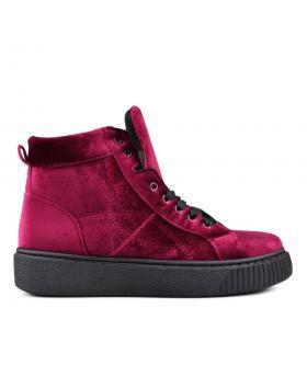 Червени дамски ежедневни боти 0131484 в online магазин Fashionzona