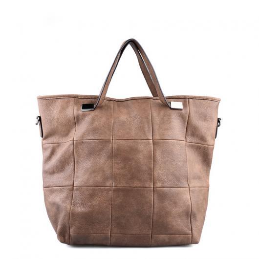 Кафява дамска ежедневна чанта Eleonora