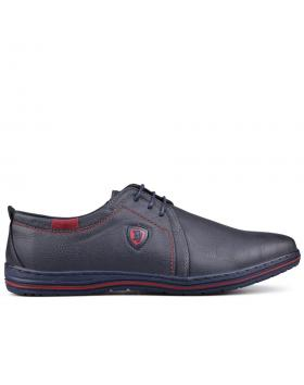Сини мъжки ежедневни обувки 0131651 в online магазин Fashionzona