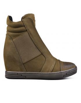 Дамски ежедневни боти зелени 0131610 в online магазин Fashionzona
