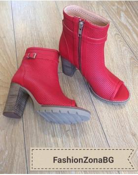 Дамски летни боти червени 0131109 в online магазин Fashionzona