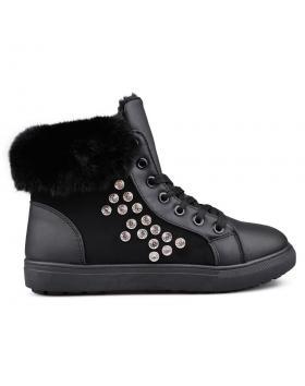 Черни дамски кецове с топъл хастар 0131900 в online магазин Fashionzona