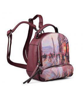 Червена дамска раница 0131560 в online магазин Fashionzona