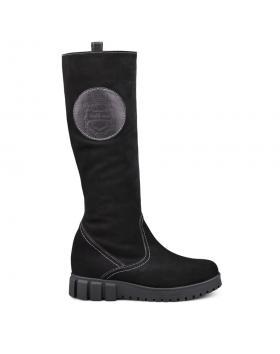 Дамски ежедневни ботуши с топъл хастар черни 0132636 в online магазин Fashionzona