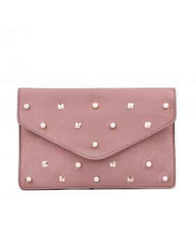 Розова дамска елегантна чанта 0132275 в online магазин Fashionzona