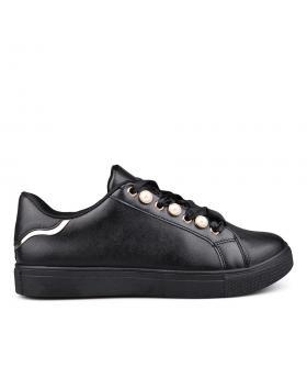 Черни дамски кецове 0132409 в online магазин Fashionzona