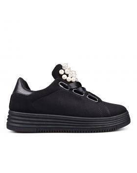 Черни дамски кецове 0132422 в online магазин Fashionzona
