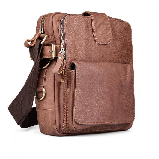 Кафява мъжка ежедневна чанта Abejundio
