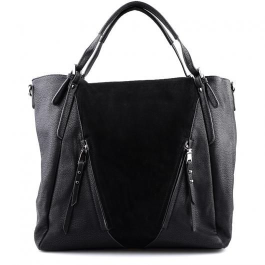 Черна дамска ежедневна чанта Frankie