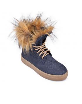 Сини дамски кецове с топъл хастар Keanna в online магазин Fashionzona